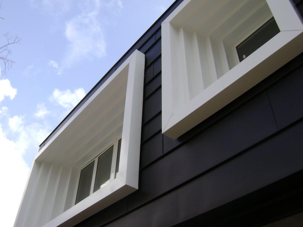 Style cop rivestimento di facciata ventilata in metallo zinco titanio vm zinc provincia di - Imbotti in alluminio per finestre ...